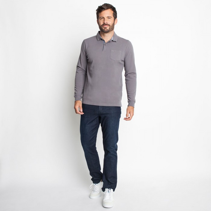 Homme Polo Longues Gris Manches Achat AmipolTbs 3AqcRjSL54