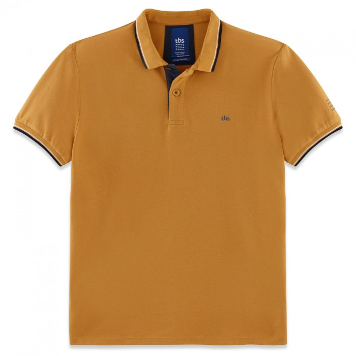 first look exquisite design best wholesaler Achat Polo Manches Courtes Jaune Moutarde Homme - POLTOM | TBS