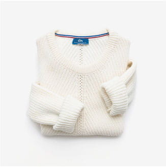 pull blanc femme made in france tbs